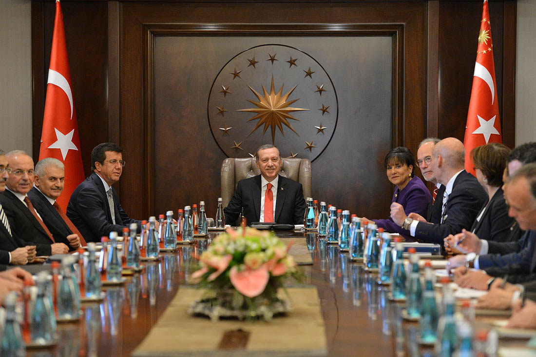 Recep Tayyip Erdogan durante un incontro commerciale negli Usa. Fonte: US Department of Commerce.